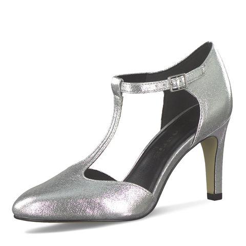 Félcipő TAMARIS 1 24712 22 Silver 941 Lapos Félcipő